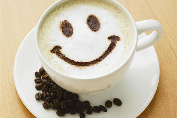 Dieses Bild zeigt eine lachende Kaffeetasse